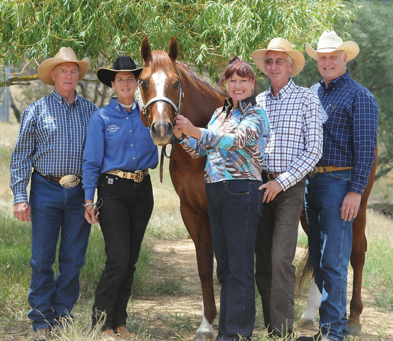 Peter & Pauline Stuart-Fox, HF Somethin Hot & new owners Kath Pe